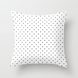 Little Dots Black on White Throw Pillow