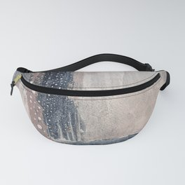 Pink navy abstract Fanny Pack