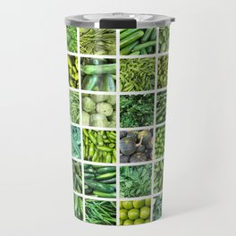 Fruit & Vegetables. Home Decor: Modern, colorful collage for your kitchen, home and cafe. Travel Mug