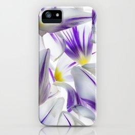 Purple and White Tulip Petals iPhone Case