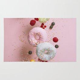 Flying doughnuts Rug