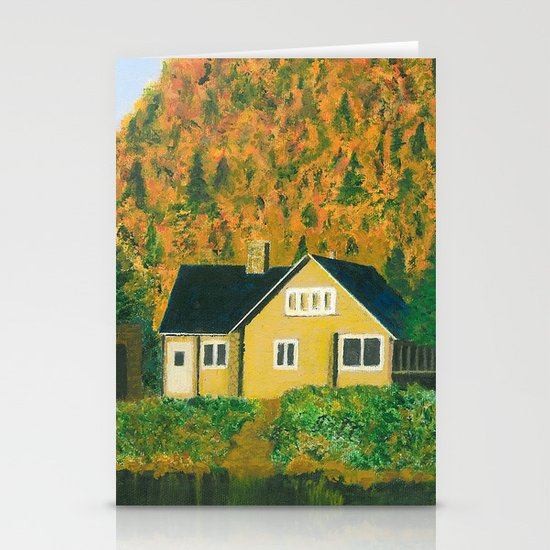 Maison jaune Stationery Cards