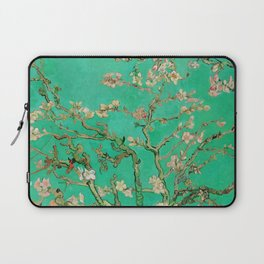 "Vincent van Gogh ""Almond Blossoms"" (edited emerald) Laptop Sleeve"