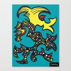 Kissing Dragon Canvas Print