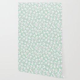 Indian summer bohemian hamsa hand of fatima pattern mint Wallpaper