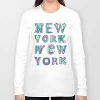 nyc Long Sleeve T-shirts featuring NYC by Fimbis