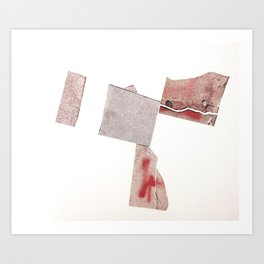 Sidewalk Fragments 6 Art Print