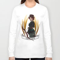 monster hunter Long Sleeve T-shirts featuring Steampunk Occupation Series: Monster Hunter by kortothecore