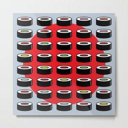 Abstract Sushi Art Metal Print