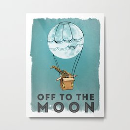 Off To The Moon Metal Print