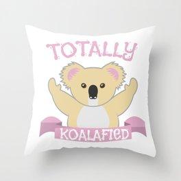 Koala bear cute cuddle sweet funny gift Throw Pillow
