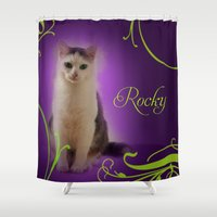 rocky Shower Curtains featuring Rocky by Flavia Jurca