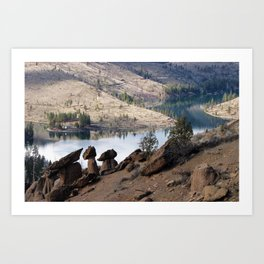 Rocks at Lake Billy Chinook Art Print
