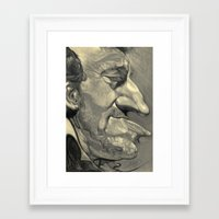 bruce springsteen Framed Art Prints featuring Springsteen by Alan Carlstrom