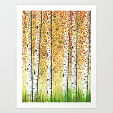 Birch Grove Art Print