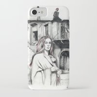 les miserables iPhone & iPod Cases featuring Les Miserables Portrait Series - Fantine by Flávia Marques