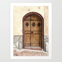 Little house, little door Art Print