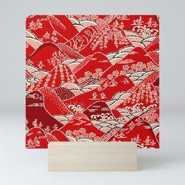 Red Mountains Mini Art Print