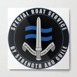 Specia Boat Service (SBS) Emblem Metal Print