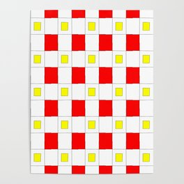 Tribute to mondrian 2- piet,geomtric,geomtrical,abstraction,de  stijl, composition. Poster