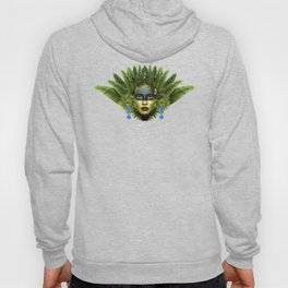 """Tropical green and indigo jungle Woman"" Hoody"