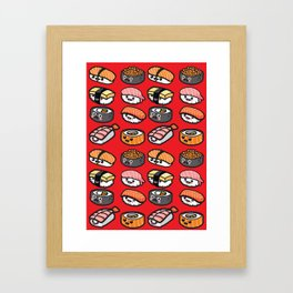 Sushi Family Framed Art Print