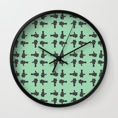 camera 02 pattern Wall Clock