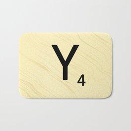 Scrabble Y Initial - Large Scrabble Tile Letter Bath Mat