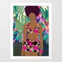 Jungle Pop! Pink triangles Textile Collage by katrinaward