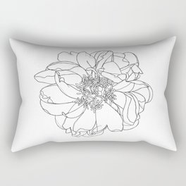 Single flower botanical illustration - Orla Rectangular Pillow
