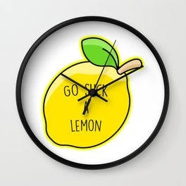 Go Suck A Lemon Wall Clock