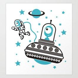 space Blue! Art Print