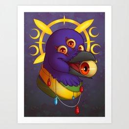 Raven Eyes Art Print