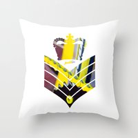 general Throw Pillows featuring Fixie General by Pedlin