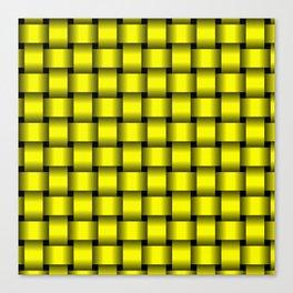 Yellow Weave Canvas Print