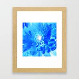 Unique Duvet Cover - Floral Design in Blue # 23 Framed Art Print