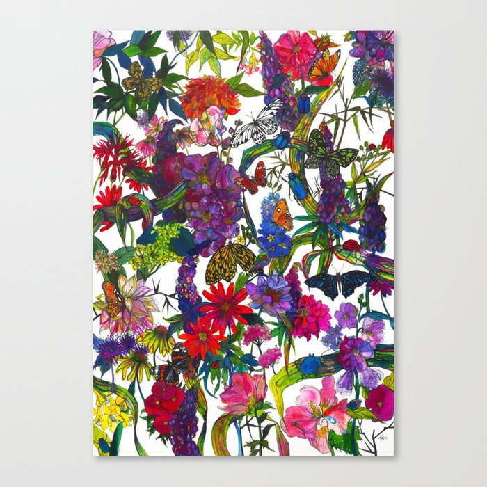 Botanical Butterflies Canvas Print