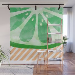 Lime Abstract Wall Mural