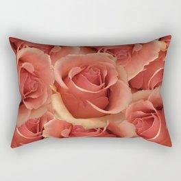 Persian Red Roses Rectangular Pillow