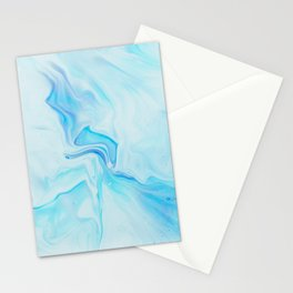 Light Blue Marble Stationery Cards