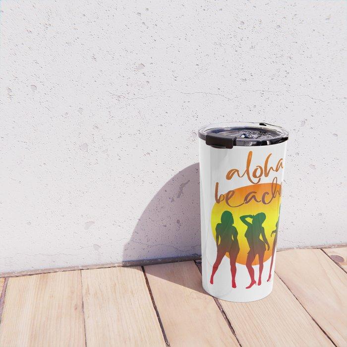 Aloha beaches Travel Mug