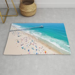 Manhattan Beach Drone Shot Rug