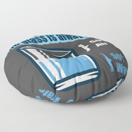 Technically, the glass is always full positive gift Floor Pillow