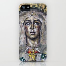 Esperanza Macarena of Seville with candle light iPhone Case