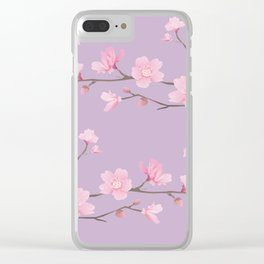 Cherry Blossom - Pale Purple Clear iPhone Case