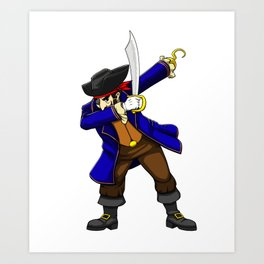 Pirate Dab Viking Novelty Halloween Art Print