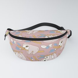 Sloth pattern in pink Fanny Pack