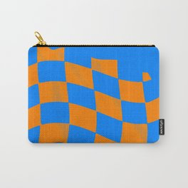 Checkered pattern V Carry-All Pouch
