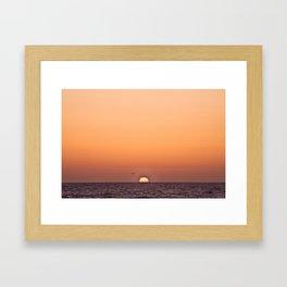 Sun on the Horizon, 2012 Framed Art Print