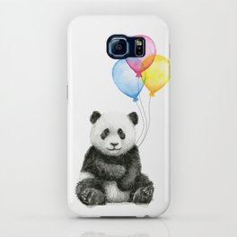 Panda Baby with Balloons Whimsical Nursery Animals iPhone Case